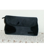 Chanel Parfums Cosmetic Makeup Bag Black Satin Clutch Purse Travel Case - $32.99