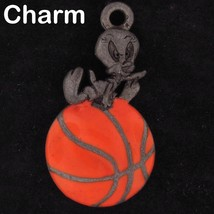 CHARM Tweety Bird WARNER BROS LOONEY TUNES WB STORE Pewter BASKETBALL 4765 - $14.25