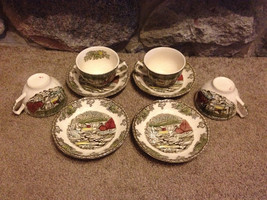 """Johnson Brothers The Friendly Village Tea Cups and Saucers Set Of 4 """"The... - $25.00"""