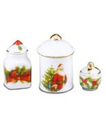 Dollhouse Christmas Canister Set 1.825/5 Reutter Miniature - $19.95