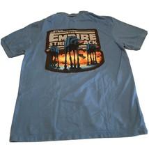 Star Wars Custom Merona Polo Shirt Short Sleeve Blue Empire Strikes Back... - $11.35
