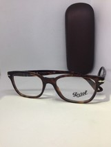 New Authentic PERSOL 3003-V 938 Brown Stripe RX Eyeglasses ITALY 52-18-140 - $65.44