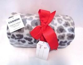 Cannon Fleece Throw Blanket Cheetah Print 50 X 60 inches - $12.84 CAD