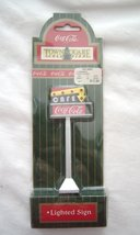 Coca Cola Town Square Collection Lighted Cafe Sign NOS Original Packaging - $29.99