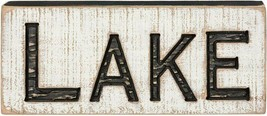 Lake Wood Box Sign Distressed Primitives by Kathy - $9.85