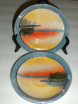 2 Antique Made in Japan  Hand painted Saucers Excellent Condition - $6.79