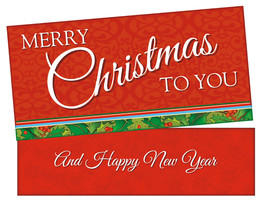 Merry Christmas To You ~ Christmas Holiday Gift Card or Money Holder - $5.00