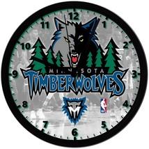"Minnesota Timberwolves LOGO Homemade 8"" NBA Wall Clock w/ Battery Included - $23.97"