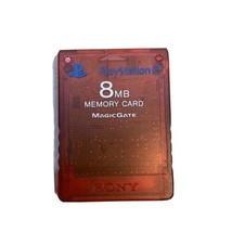 Official Sony PlayStation 2 PS2 8 MB Red Memory Card - Genuine OEM - $9.97