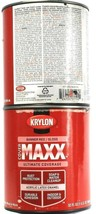 2 Cans Krylon 32 Oz Cover Maxx 9614 Gloss Banner Red Acrylic Latex Enamel - $30.99