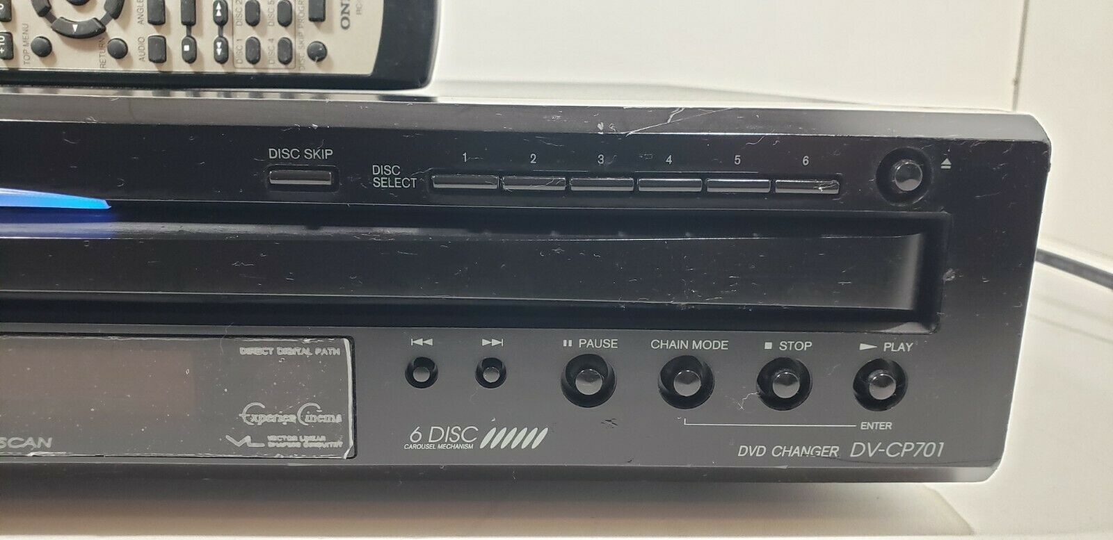 Onkyo 6 Disc Carousel DVD/ CD Changer DV-CP701 with Remote Tested image 2