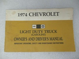 Chevy Pickup TCHEV10   1974 Owners Manual 17363 - $17.77