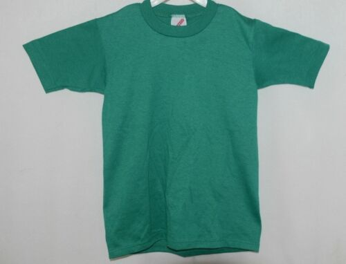 Jerzees Tshirt Green Youth Short Sleeves Size 10 too 12