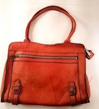 Cute Vintage Orange Leather Purse, Good Quality - $18.65