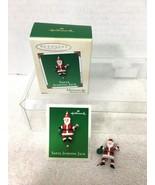 2002 Santa Jumping Jack Miniature Hallmark Christmas Tree Ornament MIB P... - $14.36