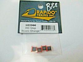 Rapido # 102066 Passenger Car Step Orange 4 pack HO Scale image 3