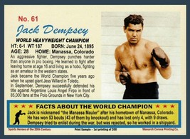 Jack Dempsey Heavyweight Boxing Champ / 20th Century #61 / MINT cond FRE... - $8.96