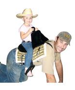 Cashel Daddle Child Western Adjustable Stirrups Horse Toy Soft Saddle Bl... - $45.99