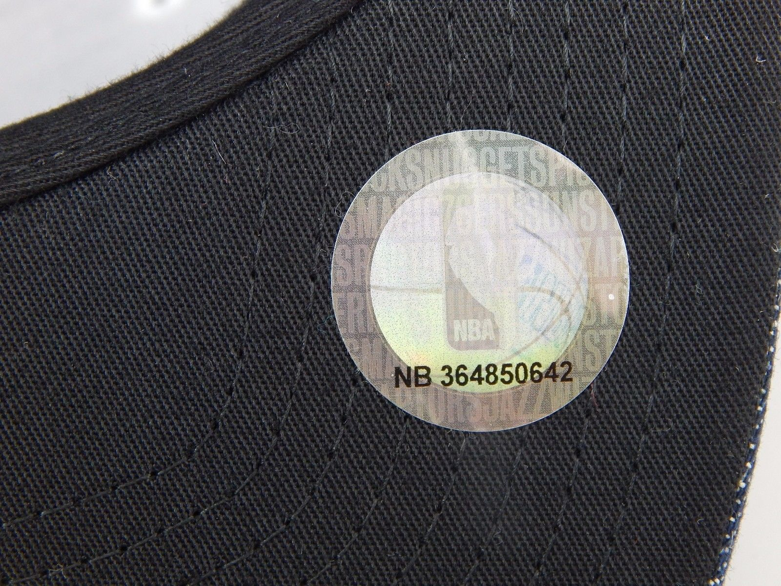 Brooklyn Nets Mitchell & Ness Size 7 5/8 Crown Fitted NBA Cap Hat Denim Blue