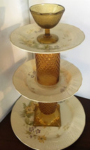 Repurposed Vintage Mikasa Fine Ivory Spring Meadow Collection Tiered Pla... - $75.00
