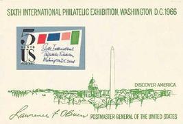 1966 SIPEX US Souvenir Sheet Catalog Number 1311 MNH