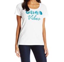 XS 0-2 Life is Good Women's Classic Scoop Good Vibes Trees Tee T-Shirt Shirt