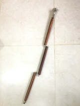 Brown Wood Walking Canes Stick Vintage Brass Handle Walk Style Cane-Unis... - $33.46