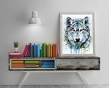 Lion Canvas, Lion Painting, Original Abstract, Animal Art Abstract, Contemporary - $28,32 MXN