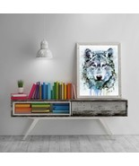 Lion Canvas, Lion Painting, Original Abstract, Animal Art Abstract, Cont... - $1.25