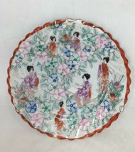 Scalloped Plate Soko Fine Porcelain Vintage Handpainted Japan Detailed S... - $19.79