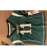 NFL Philadelphia Eagles Girls' Wentz Carson Short Sleeve Poly Top - $11.00