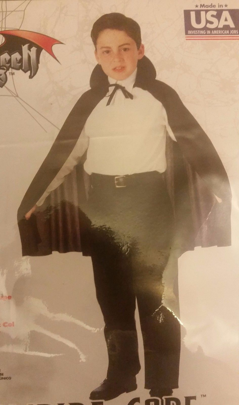 NEW Black Reversible Taffeta Vampire Child Haloween Cape by Rubies