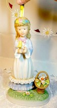Vintage Napcoware Country Cousins Friendship Song Figurine Girl w/ Flower Basket image 2