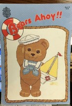 Designs By Gloria & Pat Bears Ahoy Cross Stitch Book 30 Afghan Heart Sai... - $9.77