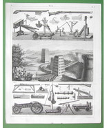 ARMS & Military Engines of Ancient Romans & Middle Ages - SUPERB Antique... - $10.12