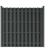 vidaXL Fence Panels w/ Posts WPC Square Gray Outdoor Fencing Garden Barrier - $164.99
