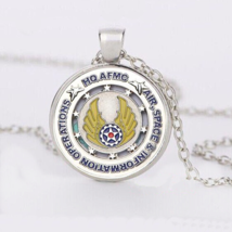 Air Space Emblem Cabochon Necklace #9996 >> Combined Shipping - $3.25