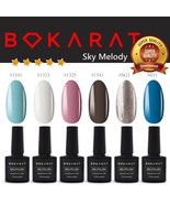 Bokarat Supper Set ~Sky Melody~ Soak Off UV LED Gel Nail Polish 7.3ml x ... - $21.99