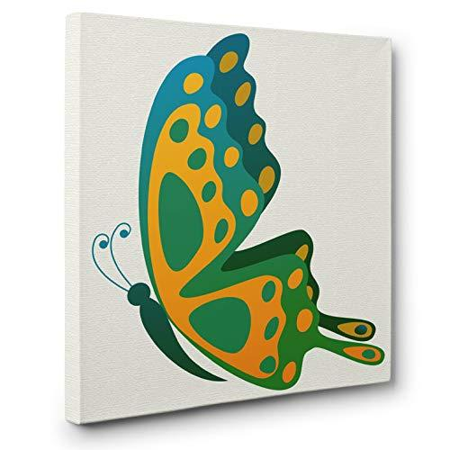 Primary image for Butterfly Blue CANVAS Wall Art Home Décor