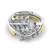 Jbr Branch Collection Pear Cut terling Silver Antique Ring - $134.00