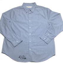 Levi's Men's Shirt XXL Blue White Stripe Long Sleeve Button Down - $24.52