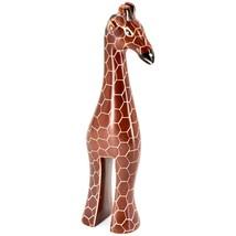 "Crafts Caravan Hand Carved Soapstone Stately Giraffe 6.25"" Figurine Sculpture image 2"