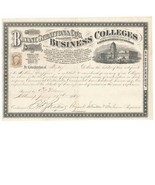 1867 R6c on Bryant, Stratton & Co. Business College Certificate Albany, ... - £105.84 GBP