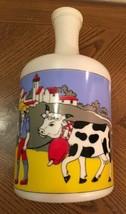 MILK BOTTLE COW COLORFUL HOUSE FARM UNIQUE CAP DECOR DECORATION DAIRY FA... - $28.50