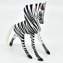 Handmade Alebrijes Oaxacan Copal Wood Carving Folk Art Zebra Horse Figure