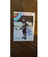 1978-79 TOPPS SIGNED AUTO ROOKIE CARD PETER LEE PITTSBURGH PENGUINS ENGL... - $21.99