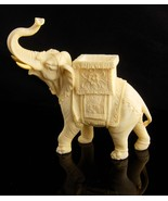 Vintage signed  Elephant statue / circus  sculpture /  good luck gift - ... - $125.00