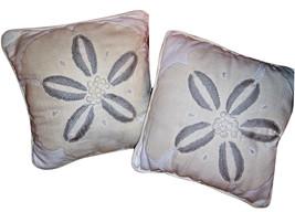Pottery Barn 2 Sand Dollar Decorative Pillows I... - $57.57