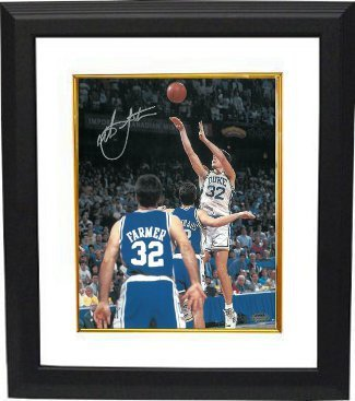 Primary image for Christian Laettner signed Duke Blue Devils Vertical 16x20 Photo Custom Framed 19