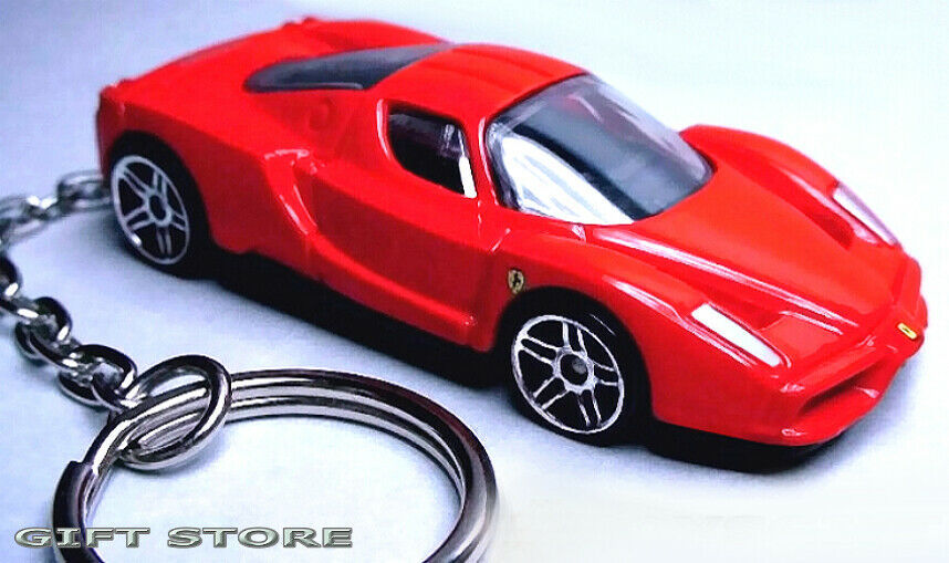 Primary image for RARE!! KEY CHAIN RED FERRARI ENZO LLAVERO PORTE CLE CUSTOM NEW EUROPE HOT WHEELS